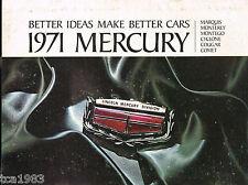 1971 Mercury Brochure: CYCLONE,COUGAR,MONTEGO,MARQUIS,MONTEREY,COMET,GT,XR-7