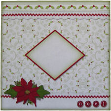 Pack of 5 Christmas Envelopes 6 x 6 Inches Square Poinsettia and Holly Design