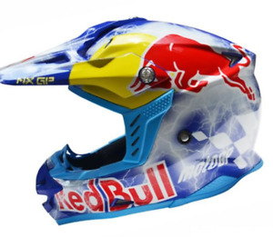Motocross Adults Motorcycle Helmet Redbull Moto GP Red Bull