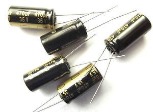 470uf 35v 105C LOW ESR Size 20mmx10mm Panasonic EEUFM1V471 x5pcs