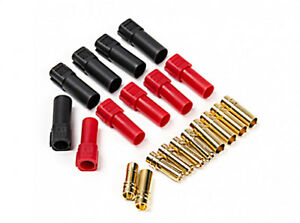 GENUINE AMASS XT150 (Battery Side) w/6mm Gold Connectors Red & Black (M/F Pairs)