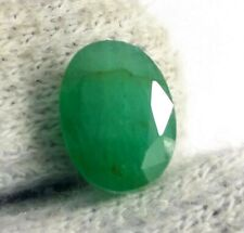 Natural 4.80 Ct Zambian Emerald Top Quality Oval Cut Lustrous Untreated Gemstone