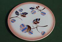 Antike Art Deco Keramik Tortenplatte Spritzdekor 30er Jahre