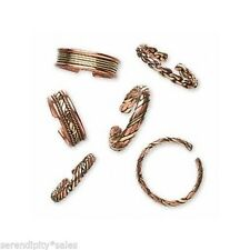 Lot 6 COPPER + Brass FINGER RINGS Medium Size ~ Mixed Designs ~ Jewelry ~ Gifts