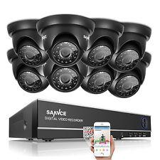 SANNCE 720P TVI Camera 1500TVL Video Home 8CH 1080N DVR Security System Dome P2P
