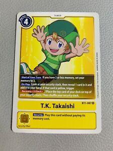 T.K. Takaishi | NM/M | BT1-087 R | Digimon CCG
