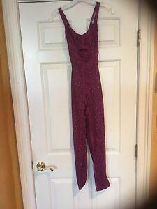Lululemon Purr-suit One Piece jumpsuit 6 8 10 DSWG (paradise geo regal plum) NWT