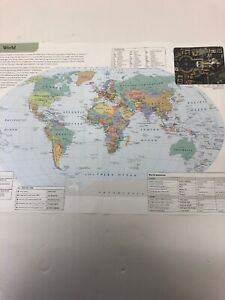 2007 : Map Of The World Political Africa Asia Europe Oceania USA Russia China