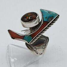 Navajo Sterling Silver Ring   / Silber Indianer RG: 60 / 19,1 mm  #3