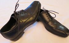 NEW Claiborne Black Leather uppers Casual Oxford Lace up Mens Dress Shoes 8