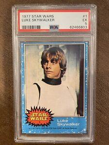 1977 Topps Star Wars Luke Skywalker #1 PSA 5 Rookie RC Freshly Graded New Holder