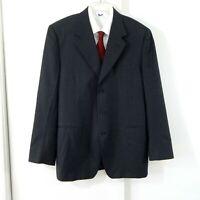 charcoal gray CANALI jacket blazer sport coat 100% wool 3 button UK 52R US 42R