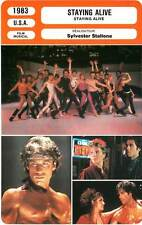 FICHE CINEMA : STAYING ALIVE - Travolta,Rhodes,Hughes,Stallone 1983