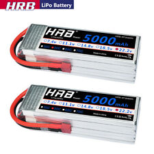 2pcs HRB 5000mAh 6S LiPo Battery 22.2V 50C-100C Deans T for RC Helicopter Drone