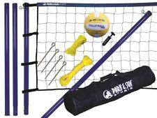 Beach Volleyball Komplett Set Mobile Netzanlage + Ball + Tasche Spiker Steel NEU