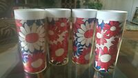 Vintage Thermo Serve Flower Power Drinking Cups Tumblers  Retro West Bend