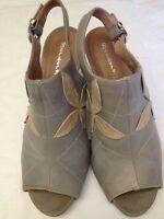 Berberg - Sandali Sabot - lavorazione artigianale - grigio e beige - N° 38