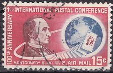 USA 1963 Mi.-Nr. 840, Sc C66, 15 C. gestempelt Montgomery Blair