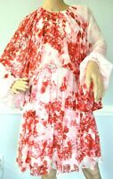 $2,480 Giambattista Valli Red Floral Embroidered Lips Dress US 6 / IT 42 / Small