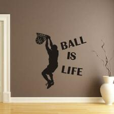 Ball Is Life Sport Playing Basketball Wall Sticker Mural Decor Decal Removable