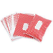 50x Sac postal auto-scellé Enveloppe plastique polyéthylène rouge à pois blanc