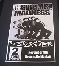 The Specials 2TONE Tour 1979 concert poster Newcastle Mayfair A3 Size Repro