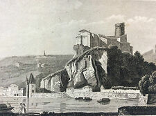 Château de Pierre scize Rhône Gravure sur acier XIXe