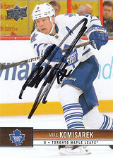 MIKE KOMISAREK MAPLE LEAFS AUTOGRAPH AUTO 12/13 UPPER DECK #177 *11836