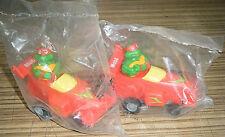 Vintage c1990 Teenage Mutant Ninja Turtles TMNT Raphael Mobil Oil Promo Cars MIP