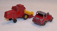 Vintage Lesney Trucks CLAAS Combine Harvester No. 65 / Thames Trader No. 7