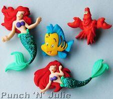La Sirenita Disney Ariel Sebastian Peces Langosta Vestido para arriba Craft Botones