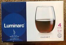 Luminarc 21oz glass set-4 glasses total BRAND NEW IN BOX