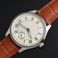 44mm Parnis Casual Mens Watch Hand Winding Mechnical Seagull 3620 Movement Cool
