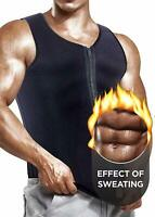 Men's Sweat Vest Body Shaper Slimming Sauna Tank Top Neoprene Chaleco Weigh Loss
