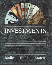 Investments by Zvi Bodie, Alan I. Marcus and Alex Kane (1989, Hardcover Book)