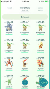 Pokemon Account Go Level 29 - Deoxys,Rayquaza,Darkrai,Genesect - 304K STARDUST