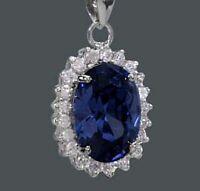 925 ECHT SILBER RHODINIERT *** Anhänger Zirkonia safir saphir blau