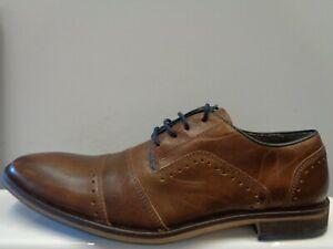 "Dune Boycy Leather Brogue Shoes Mens Size UK 8 EUR 42 Ref M143"""