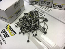 30mm BLACK STAINLESS STEEL TIPTOP PINS PLASTIC HEADED NAILS PACK OF 50