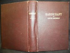 VINTAGE 1942 HANDICRAFT PROCEDURES & PROJECTS ART LEATHER METAL WOOD POTTERY
