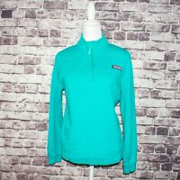 Vineyard Vines Women's 1/2 Zip Pullover Sweater Turquoise Blue Size Medium
