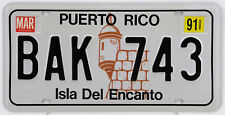 Plaque d'immatriculation américaine Puerto Rico