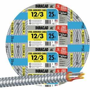 Southwire 25 Ft.12/3 AC Armored Cable 55275021