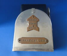 Hand Made - Leave A Note - Metal Box with Flag - Stainless Steel & Bronze