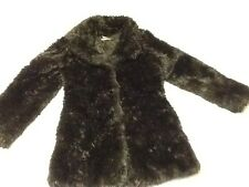 Pre-owned Blanc Noir Outerwear Womens Black Faux Fur Coat Size M