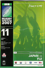 JAPAN v FIJI RUGBY WORLD CUP 2007 PROGRAMME