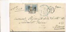 P7740   Vicenza, annullo numerale a punti + manoscritto franca, 1868