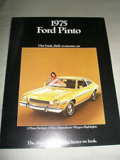 Ford USA Pinto brochure 1975 Canadian market