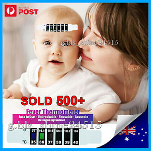 Forehead Fever Thermometer Strip Baby Child Adult Body Head Temperature Test AU