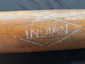 Vintage Wooden Indian Motorcycles Wooden Baseball Bat 35""